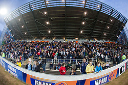 A view of the South stand at half time during the Falkirk v Rangers in the Ramsdens Cup..©Michael Schofield..