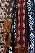 Detail shot of a pair of traditional Gaucho belts, Reponte da Cancao music festival and song competition in Sao Lorenzo do Sul, RIo Grande do Sul, Brazil.