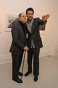 Dr. Booth Danesh and Darius Danesh. Robert Mapplethorpe exhibition curated by David Hockney. Alison Jacques Gallery. clifford St. London. 13 January 2005.  ONE TIME USE ONLY - DO NOT ARCHIVE  © Copyright Photograph by Dafydd Jones 66 Stockwell Park Rd. London SW9 0DA Tel 020 7733 0108 www.dafjones.com