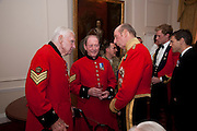 WILLIAM CROSS; JAMES HILL MCLENNAN; THE DUKE OF KENT, Charity Dinner in aid of Caring for Courage The Royal Scots Dragoon Guards Afganistan Welfare Appeal. In the presence of the Duke of Kent. The Royal Hospital, Chaelsea. London. 20 October 2011. <br /> <br />  , -DO NOT ARCHIVE-© Copyright Photograph by Dafydd Jones. 248 Clapham Rd. London SW9 0PZ. Tel 0207 820 0771. www.dafjones.com.