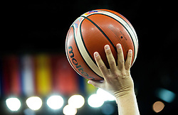 08-09-2015 CRO: FIBA Europe Eurobasket 2015 Slovenie - Nederland, Zagreb<br /> De Nederlandse basketballers hebben de kans om doorgang naar de knockoutfase op het EK basketbal te bereiken laten liggen. In een spannende wedstrijd werd nipt verloren van Slovenië: 81-74 / Ball. Photo by Vid Ponikvar / RHF