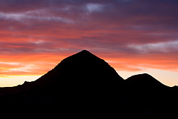 Stock photo of the sunset at the Christmas mountain range, Brewster County, west Texas