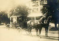 1910 Carriage in front of the Hollywood Hotel on Hollywood Blvd.