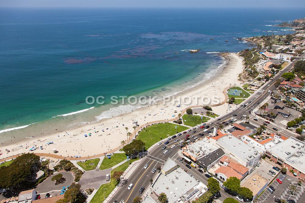 Main Beach in Laguna Aerial Stock photo