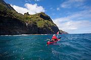Kayaking, Napali Coast, Kauai, Hawaii