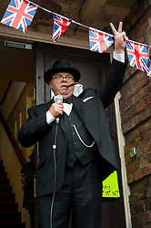 Reenactor and Look-a-like Derek Herbert portrays Britains Lgenedary Wartime leader Winston Churchill at the Northallerton Wartime Weekend.<br />