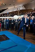 Koning Willem-Alexander is aanwezig bij de viering van 100 jaar luchtvaart in Nederland in het Eye Filmmuseum. KLM, NLR-Nederlands Lucht- en Ruimtevaartcentrum en GKN Fokker bestaan in 2019 alle drie honderd jaar.<br /> <br /> King Willem-Alexander is present at the Eye Film Museum at the celebration of 100 years of aviation in the Netherlands. KLM, NLR-Netherlands Aerospace Center and GKN Fokker all exist in 2019 for three hundred years.