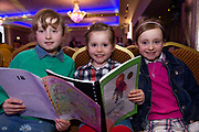 07/04/2019 repro free: Cora Harney 2nd Class St Brendan's with Maria Harneya nd Anna Harney from Portumna at Write a Book organised by The Galway Education centre and help at the Salthill Hotel  . Photo: Andrew Downes, Xposure