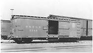 Box car #3389 with standard gauge double door wooden box car.<br /> D&RGW    Taken by Best, Gerald M. - ca 1937