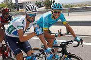 Alejandro Valverde (ESP - Movistar), Omar Fraile (ESP - Astana Pro Team)during the UCI World Tour, Tour of Spain (Vuelta) 2018, Stage 7, Puerto Lumbreras - Pozo Alcon 185,7 km in Spain, on August 31th, 2018 - Photo Luis Angel Gomez / BettiniPhoto / ProSportsImages / DPPI