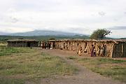 Africa, Tanzania, Datoga tribe village