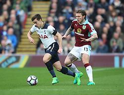 Harry Winks of Tottenham Hotspur (L) and Jeff Hendrick of Burnley in action - Mandatory by-line: Jack Phillips/JMP - 01/04/2017 - FOOTBALL - Turf Moor - Burnley, England - Burnley v Tottenham Hotspur - Premier League