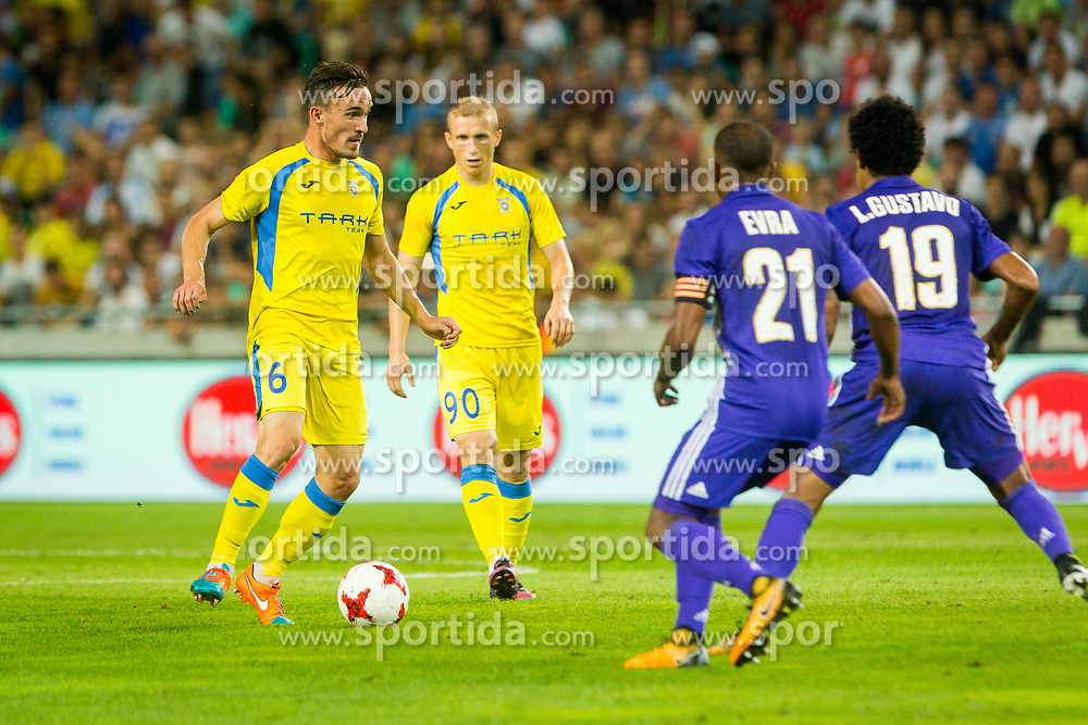 Tilen Klemencic of NK Domzale during football match between NK Domzale and Olympique de Marseille in First game of UEFA Europa League playoff round, on August 17, 2017 in SRC Stozice, Ljubljana, Slovenia. Photo by Ziga Zupan / Sportida