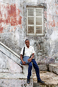 A portrait of Nalito, 18, a schoolboy, Sao Tome and Principe<br /> Sao Tome and Principe, are two islands of volcanic origin lying off the coast of Africa. Settled by Portuguese convicts in the late 1400s and a centre for slaving, their independence movement culminated in a peaceful transition to self government from Portugal in 1975.
