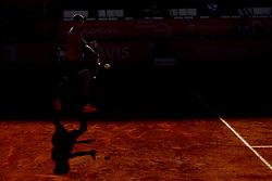 May 2, 2017 - Lisbon, Portugal - Juan Martin Del Potro of Argentine returns a ball to Yuichi Sugita of Japan during the Millennium Estoril Open 1st round tennis tournament in Estoril, outskirts  of Lisbon, Portugal on May 2, 2017. Juan Martin Del Potro of Argentine won 6-1, 6-3. Photo: Pedro Fiuza (Credit Image: © Pedro Fiuza via ZUMA Wire)