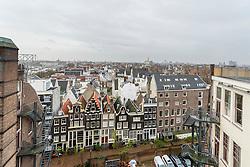 Zicht vanaf het dak van Het Scheepvaarthuis, Amsterdam, Netherlands