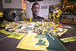 January 30, 2019 - Nantes, France - ILLUSTRATION - PARVIS - SUPPORTERS - HOMMAGE A 09 EMILIANO SALA  (Credit Image: © Panoramic via ZUMA Press)