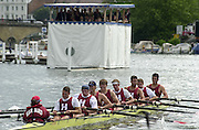 Henley on Thames, United kingdom,   Temple Challege Cup Bucks - Harvard University BC and University of London, Annual 2002 Henley Royal Regatta, Henley Reach, River Thames, England, [Mandatory Credit: Peter Spurrier/Intersport Images] Malcolm HOWARD at 5. 20020703 Henley Royal Regatta, Henley, Great Britain