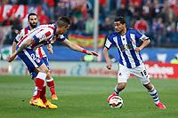 Atletico de Madrid´s Gimenez and Real Sociedad´s Chory Castro during La Liga match at Vicente Calderon stadium in Madrid, Spain. April 07, 2015. (ALTERPHOTOS/Victor Blanco)