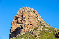 Hout Bay a coastal suburb of Cape Town, South Africa. This mountain is called the Sentinel.