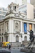 The City Hall in Pedro Ernesto Place on Cinelandia Square in Rio de Janeiro, Brazil.  Rio de Janeiro, Brazil.