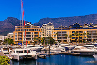 Yacht harbor, Victoria & Alfred Waterfront, Cape Town, South Africa.