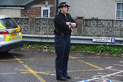 © Licensed to London News Pictures. 15/11/2016<br /> Stable Lane in Bexley is sealed off by police this morning.<br /> BEXLEY MURDER at Double K Gym.<br /> A murder investigation is under way after a man was stabbed to death at a gym in Bexley Village,Bexley,Kent.  Double K Gym in Stable Lane,Bexley is run by Idris Elba's trainer Kieran Keddle.    A man, in his 20s, was suffering from critical stab injuries and died at the scene yesterday morning.<br /> <br /> <br /> Photo credit :Grant Falvey/LNP