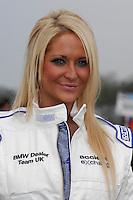 2008 British Touring Car Championship.  Donington Park, Derby, United Kingdom. 3rd-4th May 2008.  Jacksons MSport BMW Grid Girl.  World Copyright: Peter Taylor/PSP