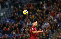 October 28, 2017 - Rome, Italy - Roma s Lorenzo Pellegrini heads the ball during the Serie A soccer match between Roma and Bologna at the Olympic stadium. (Credit Image: © Riccardo De Luca/Pacific Press via ZUMA Wire)