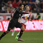 Erick Torres, Houston Dynamo, in action during the New York Red Bulls Vs Houston Dynamo, Major League Soccer regular season match at Red Bull Arena, Harrison, New Jersey. USA. 19th March 2016. Photo Tim Clayton