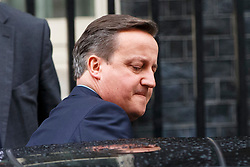 © Licensed to London News Pictures. 05/01/2016. London, UK. Prime Minister David Cameron  leaving Downing Street on Tuesday, 5 December 2015 to announce ministers allowed to campaign for either side in the EU referendum once a deal is reached on the UK's relationship with the EU. Photo credit: Tolga Akmen/LNP
