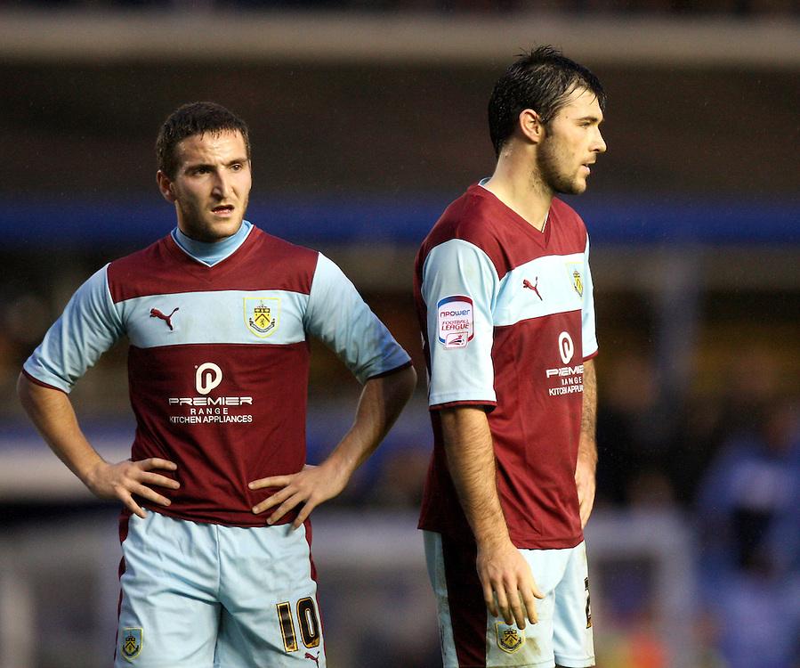 Burnley's Charlie Austin and Martin Paterson look dejected..Football - npower Football League Championship - Birmingham City v Burnley - Saturday 22nd December 2012 - St Andrews - Birmingham..
