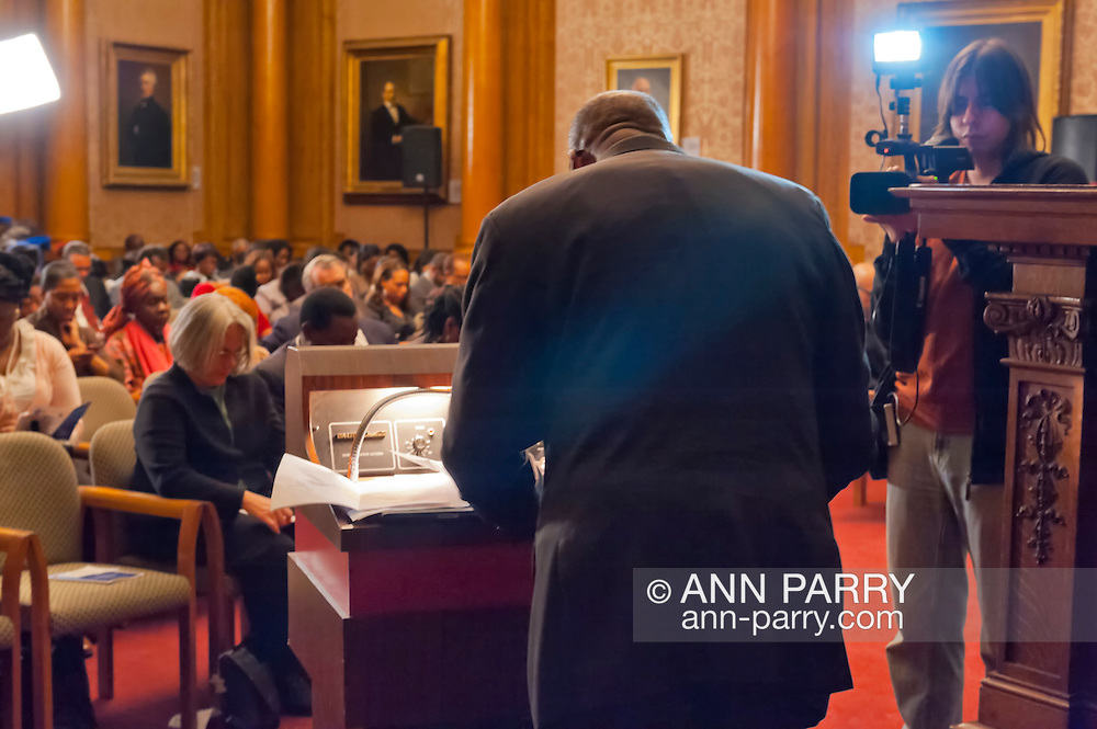 January 11, 2012 - Brooklyn, New York, USA: Two years after Haiti earthquake, the 2nd Annual Interfaith Memorial Service for Haiti, Wednesday night at Brooklyn Borough Hall.
