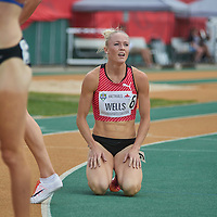 Sarah Wells has to settle for fourth place in the 400m Hurdle final at the 2016 Canadian Olympic Trials