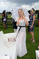 FIONA LEAHY at the Audi International Polo at Guards Polo Windsor Great Park, Egham, Surrey on 28th July 2013.