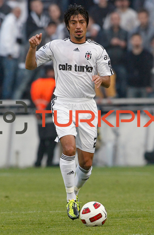Besiktas's Ibrahim TORAMAN during their Turkish Superleague Derby match Besiktas between Galatasaray at the Inonu Stadium at Dolmabahce in Istanbul Turkey on Saturday, 30 April 2011. Photo by TURKPIX