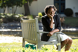 Symone Gosby, a Korean language student in the Middlebury at Mills program, photographed Monday, July 27, 2015 on the Mills College campus in Oakland, Calif. (Photo by D. Ross Cameron)