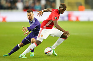 Manchester United's Paul Pogba during the Europa League Quarter Final 1st leg match at RSCA Constant Vanden Stock Stadium, Anderlecht, Belgium. Picture date: April 13th, 2017.Pic credit should read: Charlie Forgham-Bailey/Sportimage