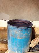 Indigo dye bath, Bagru, Rajasthan.