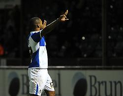 Jermaine Easter of Bristol Rovers celebrates his goal - Mandatory byline: Neil Brookman/JMP - 07966 386802 - 06/10/2015 - FOOTBALL - Memorial Stadium - Bristol, England - Bristol Rovers v Wycombe Wanderers - JPT Trophy