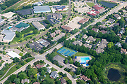 Aerial view of Fitchburg, Wisconsin; Marketplace Drive/Oak Center