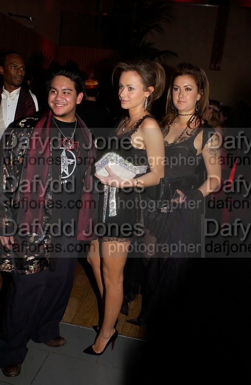 Prince Azim of Brunei, Camilla al Fayed and Jasmine al Fayed.  Andy & Patti Wong's Chinese New Year party to celebrate the year of the Rooster held at the Great Eastern Hotel, Liverpool Street, London.29th January 2005. The theme was a night of hedonism in 1920's Shanghai. . ONE TIME USE ONLY - DO NOT ARCHIVE  © Copyright Photograph by Dafydd Jones 66 Stockwell Park Rd. London SW9 0DA Tel 020 7733 0108 www.dafjones.com