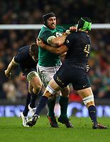 Rugby Union - 2017 Guinness Series (Autumn Internationals) - Ireland vs. Argentina<br /> <br /> Ireland's Sean O'Brien in action against Argentina's Matias Alemanno, at the Aviva Stadium.<br /> <br /> COLORSPORT/KEN SUTTON