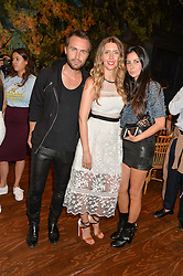 Left to right, KRISTIAN AADNEVIK, ANNA GRACE-DAVIDSON and HILA AADNEVIK at a tea party to launch Grace Gura held at Sketch, 9 Conduit Street, London on 17th June 2015.
