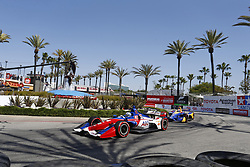 April 13, 2018 - Long Beach, California, United States of America - April 13, 2018 - Long Beach, California, USA: Tony Kanaan (14) takes to the track to practice for the Toyota Grand Prix of Long Beach at Streets of Long Beach in Long Beach, California. (Credit Image: © Justin R. Noe Asp Inc/ASP via ZUMA Wire)