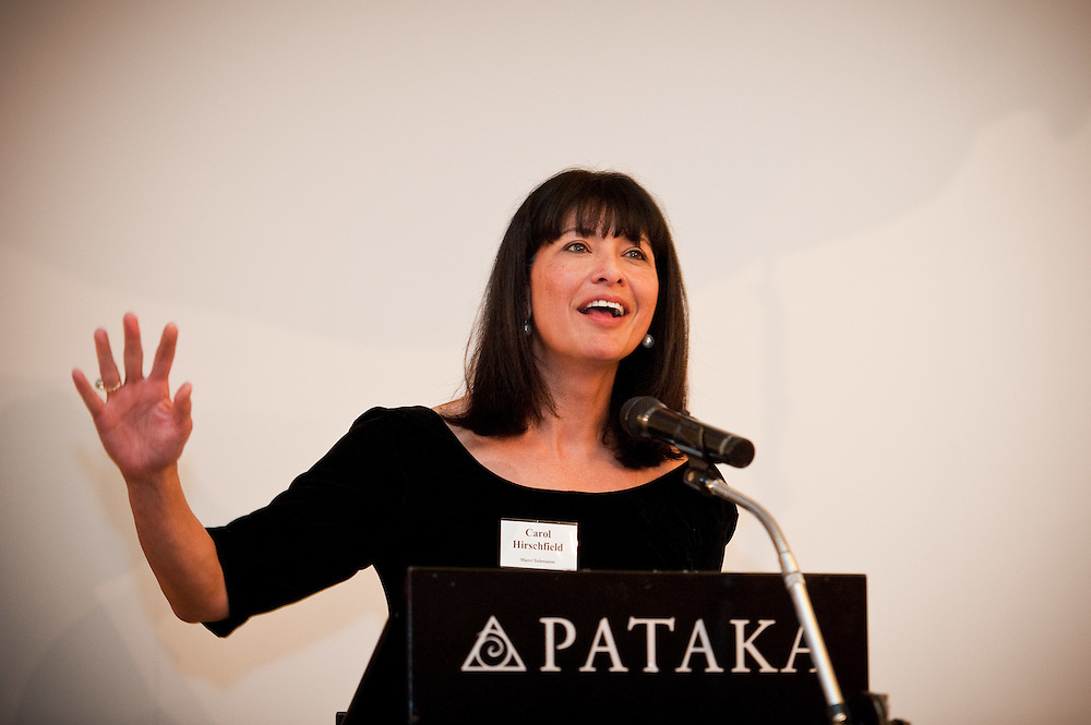 Carol Hirschfeld. Pataka cocktail function. Photo by Mark Tantrum