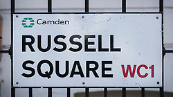 © Licensed to London News Pictures. 05/08/2016. London, UK. Russell Square where American Darlene Horton was killed and five others were injured. A Norwegian man of Somali heritage has been arrested.  Photo credit: Peter Macdiarmid/LNP