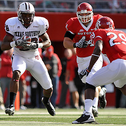 Oct 10, 2009; Piscataway, NJ, USA; Texas Southern wide receiver Andrew Thomas (28) runs after a reception during first half NCAA college football action between Rutgers and Texas Southern at Rutgers Stadium.