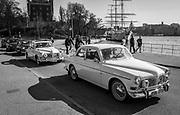 Tre Volvo Amazon på rad på Skeppsholmen