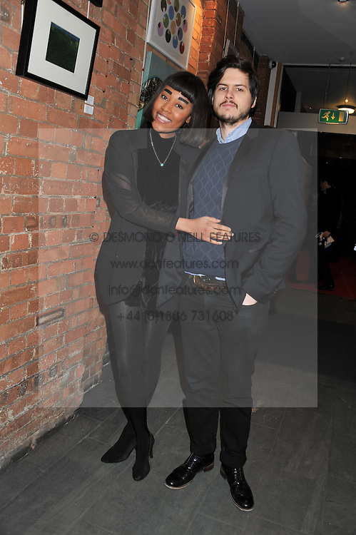 VV BROWN and DAN PRICE at the Raymond Weil Pre-Brit Awards Dinner held at The Mosaica, The Chocolate Factory, Clarendon Rd, Wood Green, London N22 on 24th January 2013.